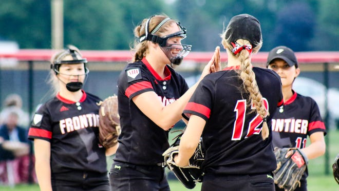 Action from Sectional softball, as Frontier beats Faith Christian  2-0. At Clinton Prairie High School to advance to the sectional finals. Wednesday, May 25, 2016.