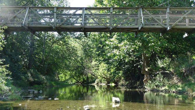 The area along the Sandusky River near the friendship bridge at Aumiller Park in Bucyrus.