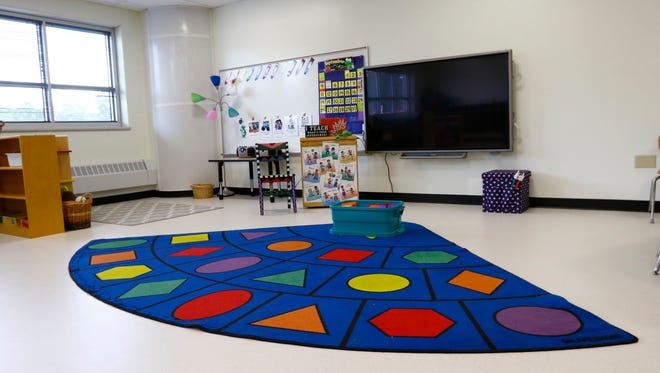 One of the classrooms in Riverview Elementary School in Wausau.