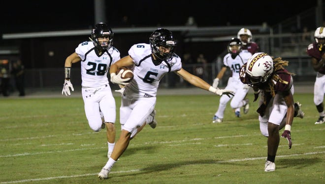 Action from Gulf Coast's district game against Riverdale in Fort Myers on Sept. 30, 2016