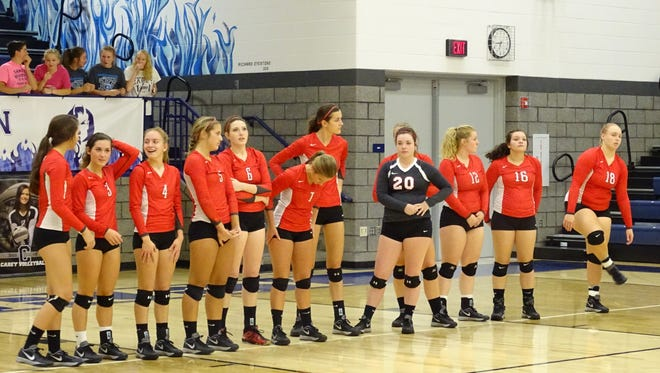 The Buckettes wait for the match to begin against Carey last week.