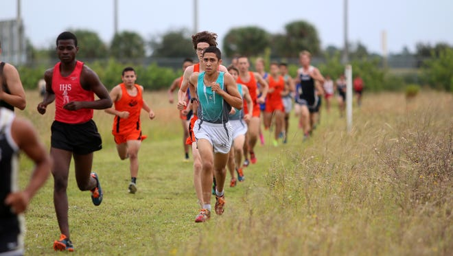 Action from Tuesday morning's Collier County Athletic Conference Boys Cross Country Championship at Palmetto Ridge High School.