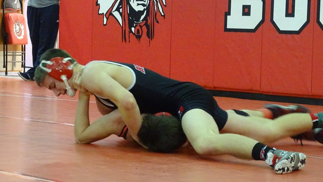 Bucyrus's Cory Sprague in action during the Bucyrus Invitational.