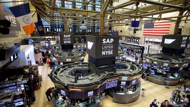 The New York Stock Exchange is shown, Thursday, Feb. 9, 2017.  (AP Photo/Mark Lennihan)