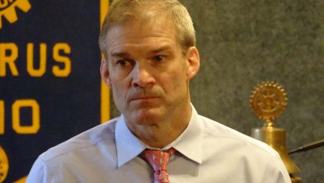 U.S. Rep. Jim Jordan, R-Urbana, speaks to members of the Bucyrus Rotary Club in May 2017. On Wednesday, Jordan led the defense of President Donald Trump during impeachment hearings.