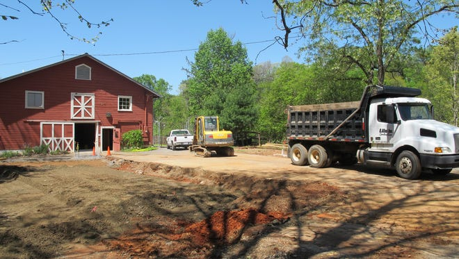 WNC Nature Center is working on its barn entrance.