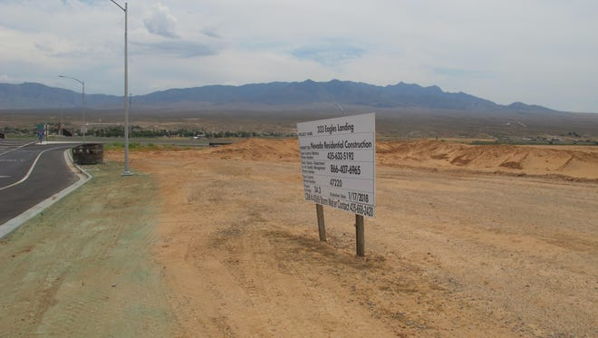 The future site of the Eagles Landing truck stop off Exit 118 in Mesquite.