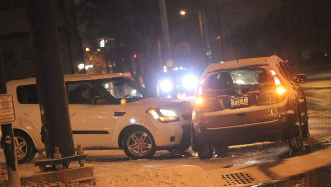 A car crash at the intersection of Sturgis and Park Avenue West on Saturday evening.