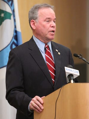 """Rockland County Executive Ed Day, shown giving his State of the County address in February, will convene an """"interfaith summit"""" of county and regional religious leaders next week."""