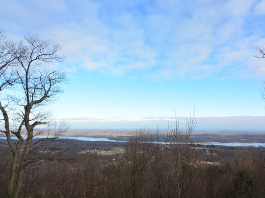 The view from the top of Shaupeneak Ridge.
