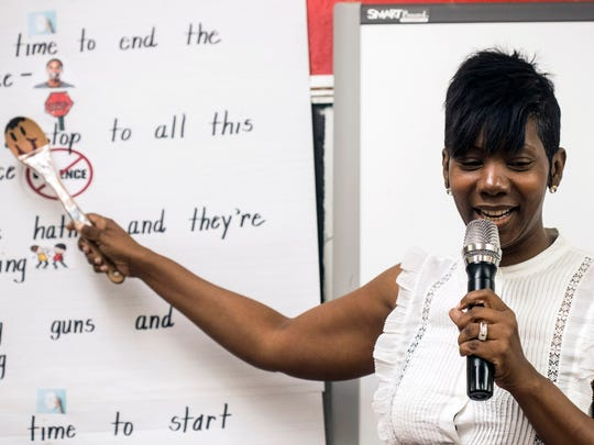 Wheatley Elementary teacher NyRee D. Clayton-Taylor brings enthusiasm for reading and writing to her students through hip hop. 5/17/18