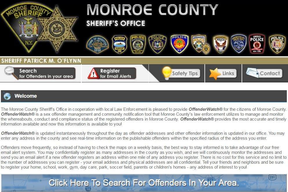 Locating sex offenders in your neighborhood