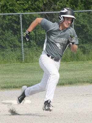 Rounding the bases during a 2016 game is Lutheran Westland's Drake Snyder. He is part of the Warriors' impressive cast of returnees for 2017.