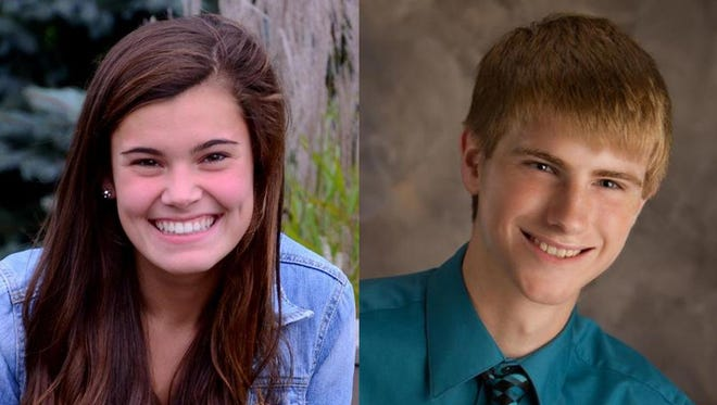 Shannon Holder and Luke Willems of St. Mary Central High School are this week's top scholars.