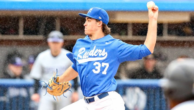 MTSU pitcher Jake Wyrick pitched a complete game shutout Sunday.