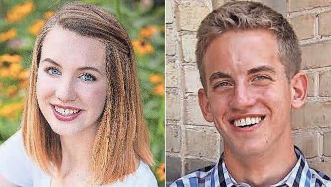 Rachel Webster and Logan Manderle of Kimberly High School are this week's top scholars.