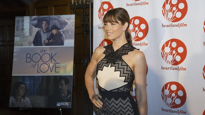 Actress Jessica Biel walks the red carpet for opening night of the 25th annual Heartland Film Festival Thursday at Scottish Rite Cathedral.