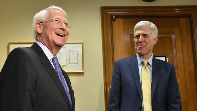 Sen. Roger Wicker, R-Miss., met with Supreme Court nominee Judge Neil Gorsuch Friday in Washington, D.C.