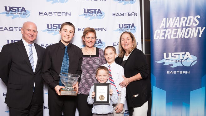Chip, Dawn, Ryan, Drew and Tucker Fishback of Geneva, were named 2017 Tennis Family of the Year by USTA Eastern, Saturday.