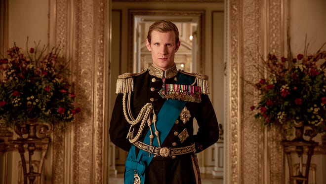 "Prince Philip (Matt Smith) on ""The Crown."""