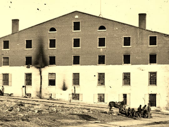 Libby Prison in Virginia  during the Civil War.