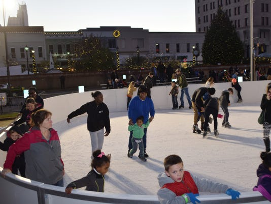 Many residents of Central Louisiana tried ice skating for the very first time at the outdoor ice skating rink in downtown Alexandria. The rink, made with real ice, was built for Alexandria's newest festival, Alex Winter Fete.