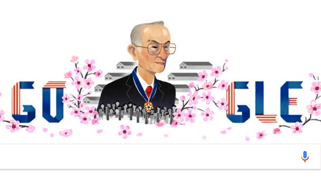 Google's 'doodle' paying tribute to activist Fred Korematsu.