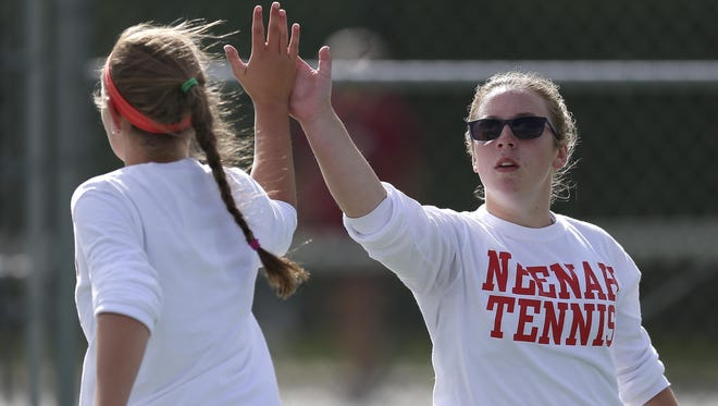 Neenah's Kendra Kappes and Christina Price will compete at No. 1 doubles at the WIAA state team tournament this weekend.