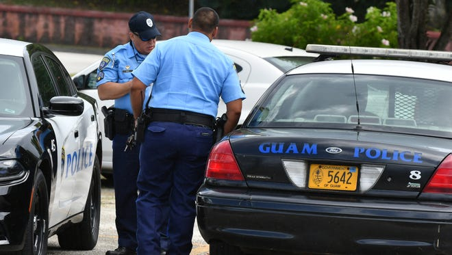 Guam Police Department officers.