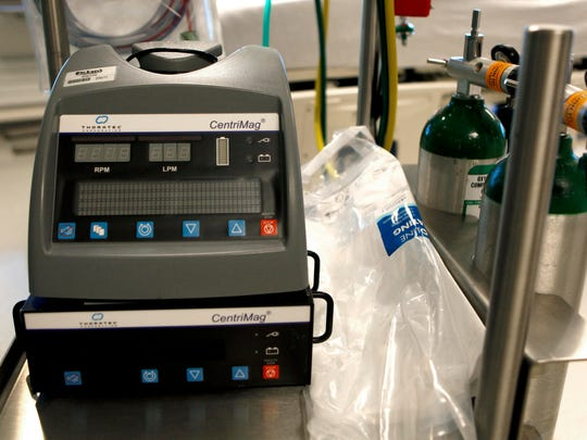 A new machine at Mercy that provides extracorporeal membrane oxygenation Ð or ECMO treatment.