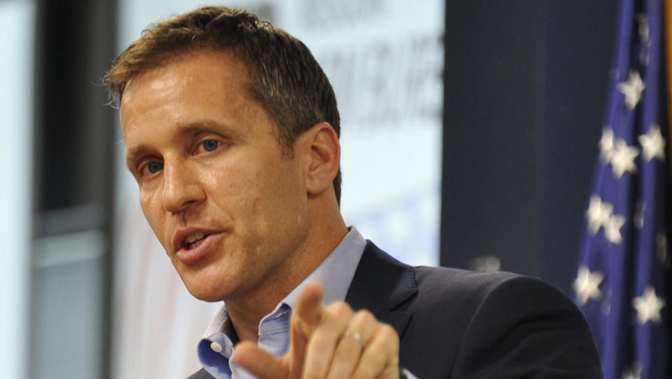 A rally to express concerns over Gov. Eric Greitens'