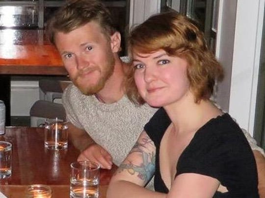 Kate Chappell with her boyfriend, Grayson Hoare