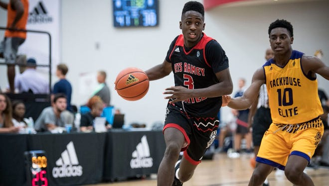 Louisville pledge Courtney Ramey competes at an Adidas AAU event.