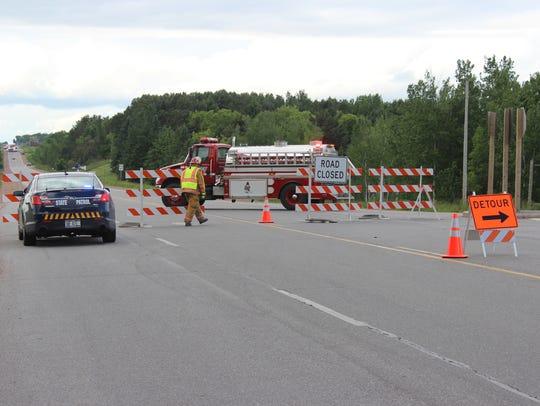 Traffic was detoured on State 97 June 6, 2016, after