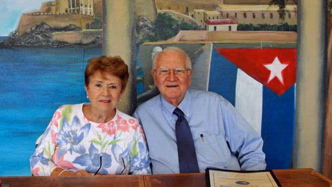 Melbourne residents Carmen and Fernando Palacios fled communist Cuba with babies Maria, 18 months, and Carmen, 5 months, for safety on American soil in 1961.