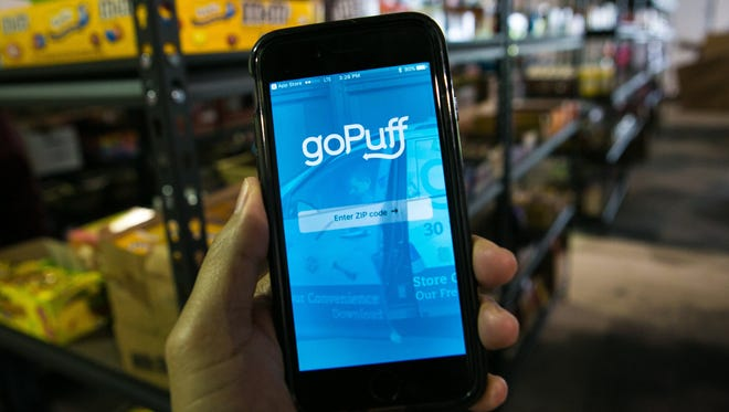 GoPuff, a Philadelphia app-based delivery company, recently brought its on-demand, convenience store service to Newark.
