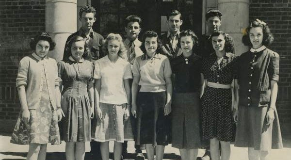 Committee members prepare for Wappingers Falls High School's prom in 1940. In front from left are Betty Curran, Marjorie Pratten, Evelyn Wolff, Delfina Campilii, Mary Visentin, Anna Di Giovanni and Doris Cox. In back from left are Bill Knight, Horace Silvestri, Joseph Clark and Joseph Aiello.