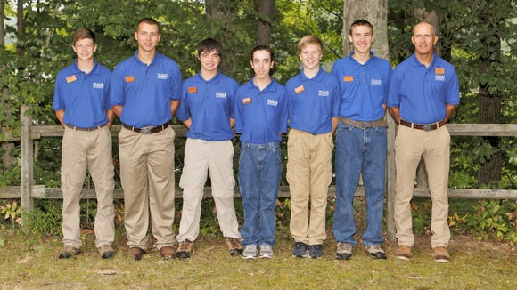 Ethan Kannel and his team, Ursis Major, pose at the PA Ursids field school.