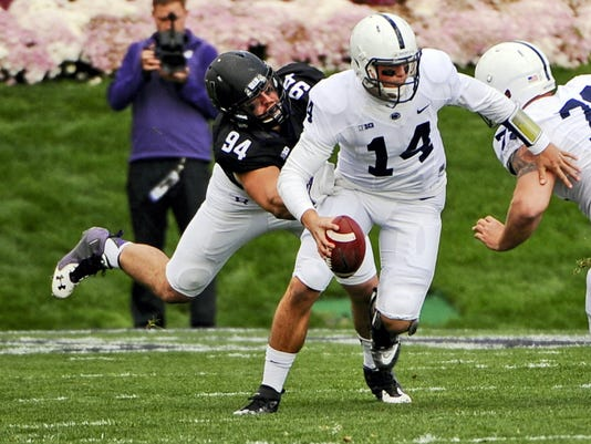 Penn State  quarterback Christian Hackenberg has been under pressure for most of the season.