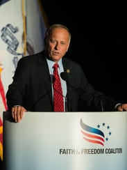 U.S. Rep. Steve King speaks during the Faith and Freedom