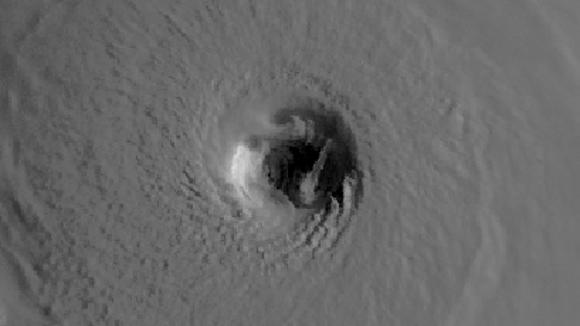Hurricane Katrina's eye