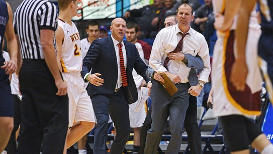 Northern State head men's basketball coach Paul Sather