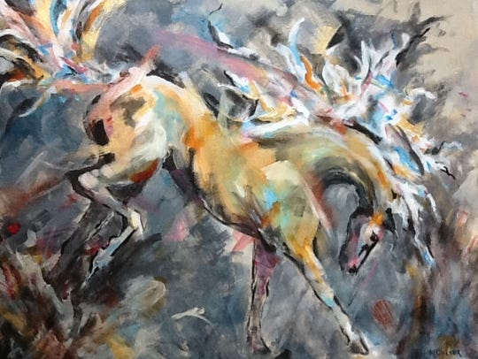Margaret Culver's paintings draw their strength from the artist's thorough knowledge of horses