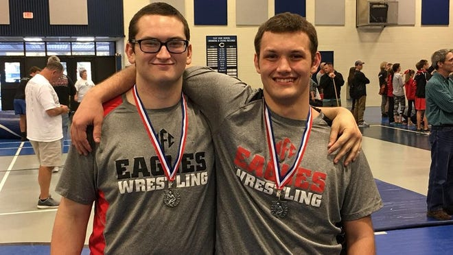 NFC wrestlers Jonathan Wainwright and David Lunn qualified for this weekend's FHSAA Wrestling State Championships, becoming the first Eagles wrestlers to do so in the third year of the program's existence.