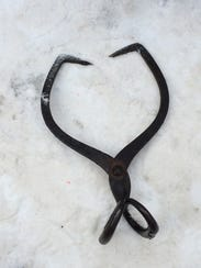 Iron ice tongs - among the many tools used by ice sculptors