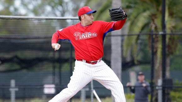 Phillies pitcher Aaron Harang