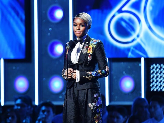 Janelle Monáe onstage during the 60th Annual Grammy