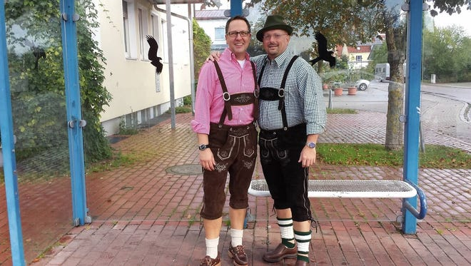 Larry and Johann together in Germany.