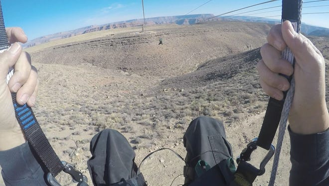 The view from the new zip-line at Grand Canyon West.