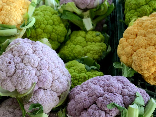 Multicolored cauliflower.